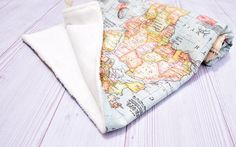 Welcome to the world blanket baby blanket world map minky blanket welcome to the world blanketbabyblanket world by hagarsewingshop gumiabroncs Gallery