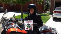 Mr. EGGhead loves cruising around on motorcycles!
