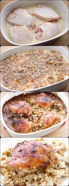 Chicken Rice Bake #foods #recipes