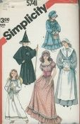 An original ca. 1982 Simplicity Pattern 5741.  Misses' And Girls' Costumes.