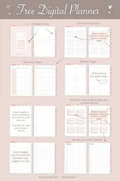 Free Digital Planner - PDF format with clickable tabs Study Planner, Free Planner, Planner Pages, Weekly Planner, Planner Stickers, Free Printable Planner, Journal Template, Planner Template, Schedule Templates