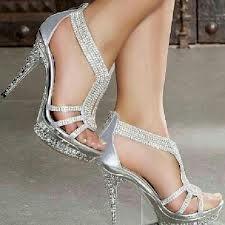 Silver sparkly heels | Stylin\'! | Pinterest | Silver sparkly heels ...