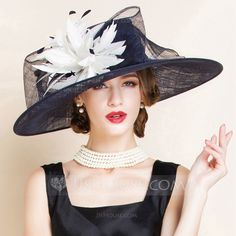 a521bb97292  £ 60.00  Ladies  Charming Summer Cambric With Feather Bowler Cloche Hat -  JJ s House
