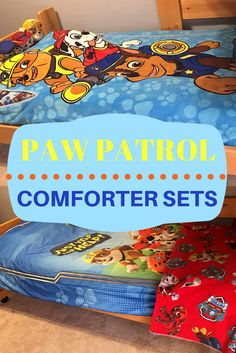 Create a fun Paw Patrol themed bedroom with these colorful Paw Patrol Comforter Sets!  Bright adorable colors with all the favorite Paw Patrol gang.  Perfect for a little boy's or girl's bedroom.  Don't forget to check out the cool matching room decor that you can also get for their rooms.