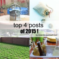 Top Landscape posts of 2015, rainwater harvesting, seed bomb, dog tuf grass, outdoor kitchen under 4200