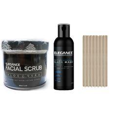 Salon Skin Care Elegance Black Mask & Facial Scrub with Applicators BB-BARBER12