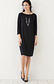 plus size Wearever 3/4-sleeve pleated-back dress   J.Jill
