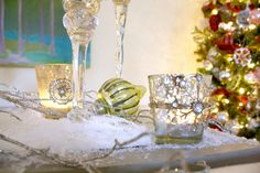 Mercury Glass Votives - Holiday Decorating Ideas