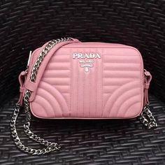 0b401ae7b223 Prada Diagramme Leather Camera Cross-body Bag 1BH083 Pink 2017