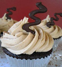 Mocha Espresso Cupcakes   my kitchen addiction