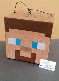 Super Cool Mine Craft Steve Head Pinata | Minecraft Party Theme | Fun Party Game | Party For Boys | Video Game Pinatas| Photo Prop | Decor by PinataDesignStudio on Etsy https://www.etsy.com/listing/269221039/super-cool-mine-craft-steve-head-pinata