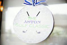 preppy golf themed birthday party golf sign by #whhostess