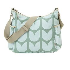 The chic Tulip Hobo Diaper Bag from OiOi is an ideal choice for a new mom that doesn't want to sacrifice style. Its soft pastel-colored design gives it dainty appeal, while plentiful pockets and compartments keep baby and personal stuff in its place. Green Handbag, Green Purse, Hobo Handbags, Shoulder Handbags, Mint Purse, Baby Nappy Bags, Baby Changing Bags, Green Shoulder Bags, Diaper Backpack