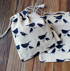 20pcs Red Birds Linen Bag Drawable Packaging por TheSweetHome