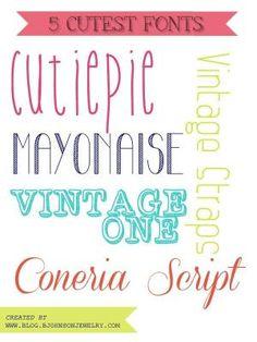Free Font Friday // 5 CUTEST FONTS #font #fonts by fanny