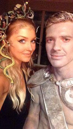 Medusa and Stoned Gladiator Couples Costume