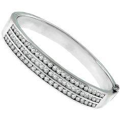 6.00ct_Diamond_Gold_Bangle | New York Estate Jewelry | Israel Rose