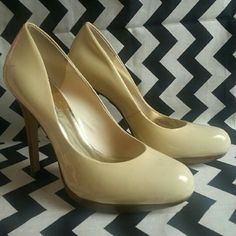 INC Cream Heels Cream heels with a .5 inch platform and 4 inches tall. NWOT INC International Concepts Shoes Heels