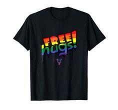 Free hugs LGBT t-shirt Lgbt T Shirts, Free Hugs, Mens Tops