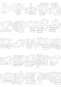 Letras Corte Manual Formatos Png, Sgv, Pdf E Sillhouette en São Paulo… 3d Paper Crafts, Paper Toys, Diy Paper, Paper Art, Diy And Crafts, Alphabet 3d, Alphabet Templates, Diy Gift Box, Diy Box