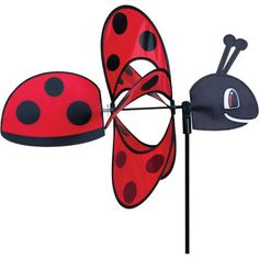 Flying Whirly Wing Ladybug Wind Spinner PR 25022 #Premier #StakedWindSpinner