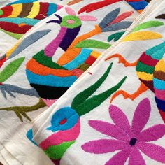 Otomi Embroidered Tenango Large Rectangles
