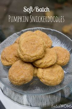 Soft-Batch Pumpkin Snickerdoodles - perfect cookie for fall!