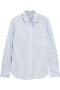 15399814c48 FRAME - Boyfriend Striped Cotton-poplin Shirt - Sky blue - x small. Sarah  Grace Bradshaw · Clothing line
