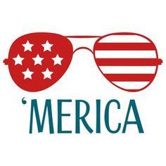 Silhouette Design Store - View Design #140057: 'merica glasses