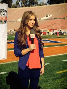 Brooke Covered The 2013 BCS National Championship In Pasadena CA For Auburns Eagle Eye TV