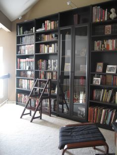 The IKEA bookcases I have that are like this setup are quite possibly my favorite piece of furniture in my house