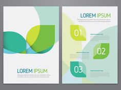 Brochure, annual report, flyer, magazine cover green vector template. Modern…