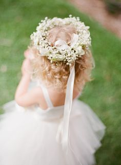Flower Girl Halo Baby's Breath Wreath