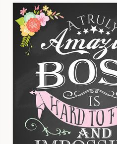 Retirement gift Female boss A truly amazing Boss by TheArtyApples