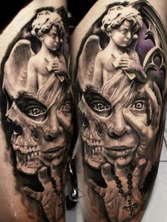 Famous Angel Statue Tattoos Best tattoo designs for effective ...