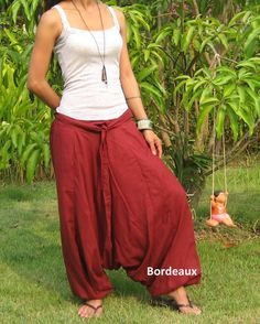 9261d07893e Plus Size Clothing Harem Pants Women Bohemian Pants Cotton Yoga Pants Women  Gypsy Pants Baggy Pants Hippie Pants Boho Pants   HL - bordeaux