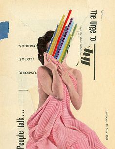 Anthony Gerace's collages are harvested from a meticulously-curated selection of vintage magazines and assorted pulp classics. Collage Design, Graphic Design Art, Collage Art, Create Collage, Vintage Magazines, Creative Thinking, Digital Collage, Oeuvre D'art, Les Oeuvres