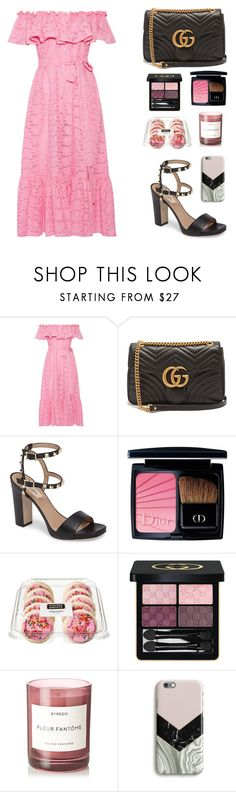 """""""Untitled #680"""" by florafow ❤ liked on Polyvore featuring Lisa Marie Fernandez, Gucci, Valentino, Christian Dior, Byredo and Harper & Blake"""