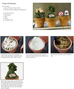 Create a scene by using a flower pot! This is a great way to make a fun and fast diorama.