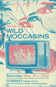 wild moccasins music gig posters