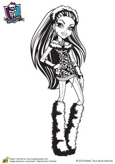 Abbey Bominable Coloring Page Find Free Pages Color Poster And Pictures In MONSTER HIGH Print Out These