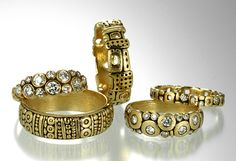 Love Alex Sepkus jewelry. My wedding band is one of his, would like a pair of gold earrings