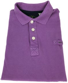 Orvis Polo Shirt XLT Mens Short Sleeve Solid Purple Pique Knit Golf Size Sz TALL #Orvis #PoloRugby
