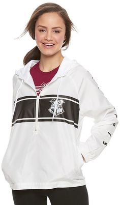 $32.99 Juniors' Harry Potter Hogwarts Crest Windbreaker Jacket
