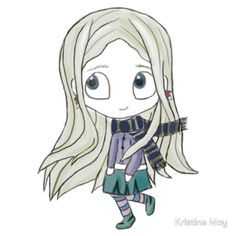 Luna Lovegood Chibi Sticker on Redbubble!