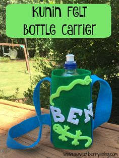 Boy Scouts are always out in the hot sun doing something fun!   What better to keep them hydrated?   A DIY bottle carrier that they can carry over their shoulder to keep their water bottl…