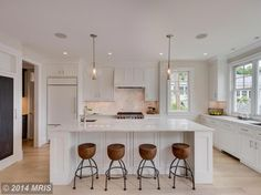 This renovated townhouse on Constitution Avenue in Capitol Hill hits that perfect fusion of contemporary warmth, pairing expansive windows, crisp white, and airy open spaces with a measured dose of white oak for a hint of organic, Scandinavian-inspired design....