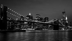 #NewYork, il brooklin bridge in bianco e nero