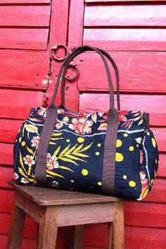 226bccd46637 Little Tree Shop - Navy Wildflower Adventure Bag - ethically made - Sari  Bari is investing