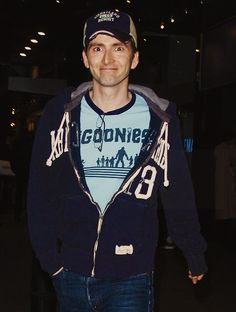 David Tennant wearing a freaking Goonies t-shirt. Wonder how he'd react if I ever met him and told him that I am an official Goonie? (Sean Astin swore me in on my 16th birthday...)